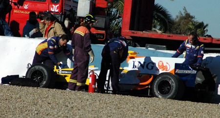 Alonso accidente en Jerez
