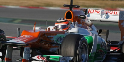 Force India piza fuerte en Montmeló